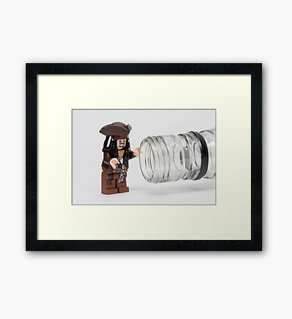 Why is the rum always gone?  Framed Print