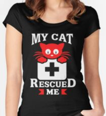 My Cat Rescued Me Women's Fitted Scoop T-Shirt