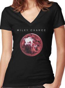 Milky Chance- Blossom Women's Fitted V-Neck T-Shirt