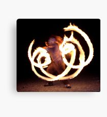 Fire Reflection Canvas Print