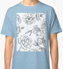 Spring Rose Pattern Classic T-Shirt