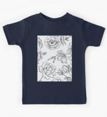Spring Rose Pattern Kids Tee