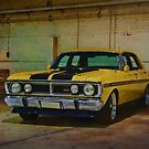 Yellow XY Ford Falcon GT by Stuart Row
