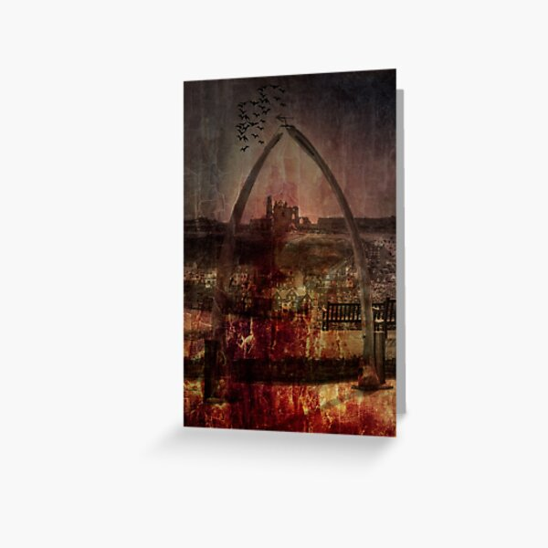 Whitby Abbey (Through the whale bone arch) Greeting Card