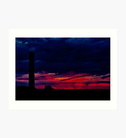 """Fire at the Horizon"" Art Print"