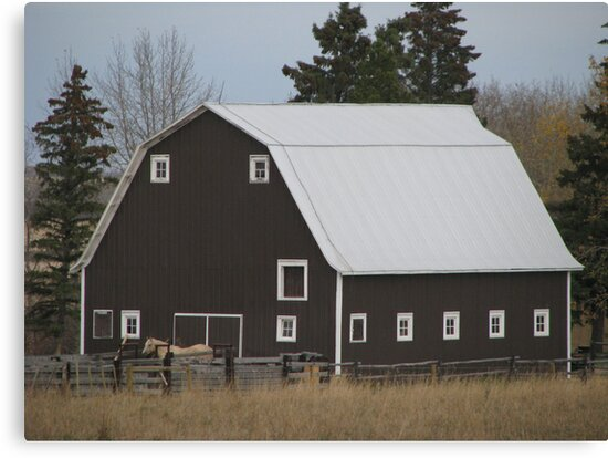 brown barn by theunlikelyogi