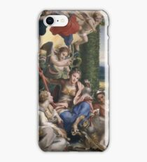Correggio - Allegory Of The Virtues iPhone Case/Skin