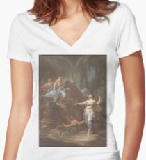 Corrado Giaquinto - Additional Images Women's Fitted V-Neck T-Shirt