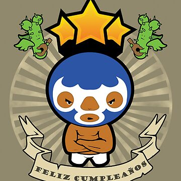 Happy Birthday -  Mexican Wrestler by BigFatRobot