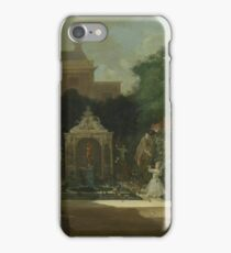 Cornelis Troost - An Amsterdam Canal House Garden, 1745 iPhone Case/Skin