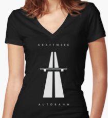 Autobahn Kraftwerk Inspired Women's Fitted V-Neck T-Shirt