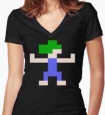 Lemmings Blocker Women's Fitted V-Neck T-Shirt