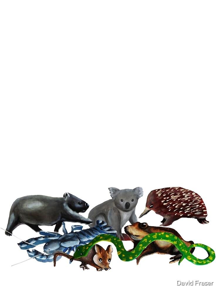 Australian animals collage by davidfraser