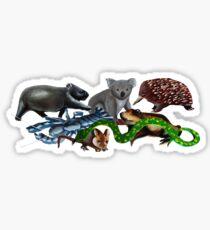 Australian animals collage Sticker