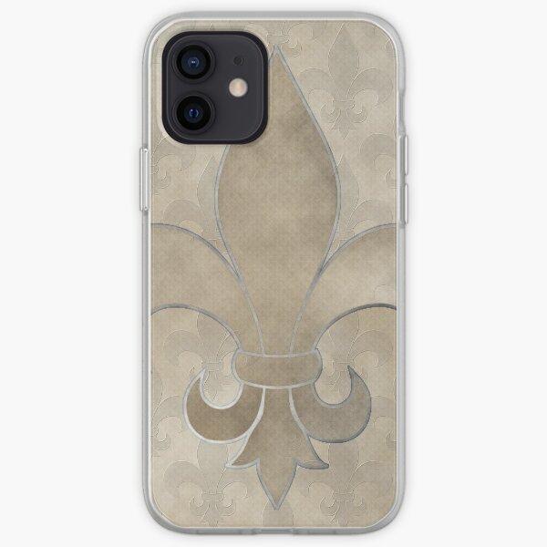 Fleur de lis Muster iPhone Flexible Hülle