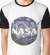 Starry Night Nasa Logo Graphic T-Shirt