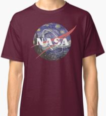 NASA Logo Starry Night Classic T-Shirt