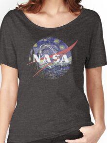 NASA Logo Starry Night Women's Relaxed Fit T-Shirt