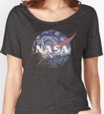 NASA Logo Starry Night Women's Relaxed Fit T-Shirt