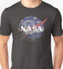 NASA Logo Starry Night Unisex T-Shirt