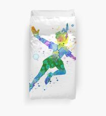 Watercolor Peter Pan Duvet Cover