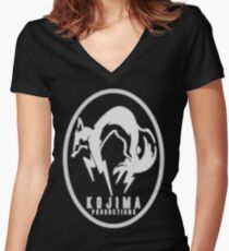 Foxhound-  Large Women's Fitted V-Neck T-Shirt