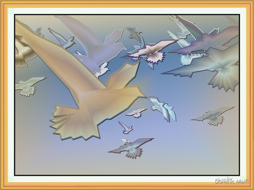Birds in Frame Canvas texture by Dominic Melfi