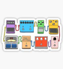 GUITAR PEDALS Recording Studio Engineer Guitarist Gear Foot Effect Pedals Music Illustration Mug Sticker T-Shirt Etc... Sticker
