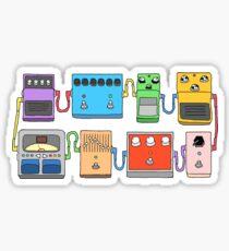 GUITAR PEDALS Recording Studio Engineer Guitarist Gear Foot Effect Pedals Music Illustration Mug Sticker T-Shirt Etc... Sticker