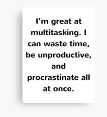 Multitasking Funny Joke Canvas Print