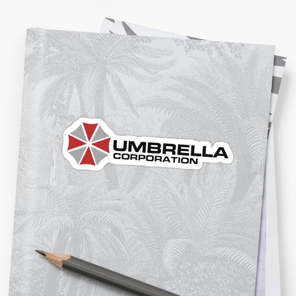 Umbrella Corporation, White, Resident Evil Pegatinas