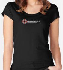 Umbrella Corporation, Schwarz, Resident Evil Tailliertes Rundhals-Shirt