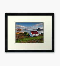 The famous Red Roof cottage at Upper Loch Torridon Scotland  Framed Print