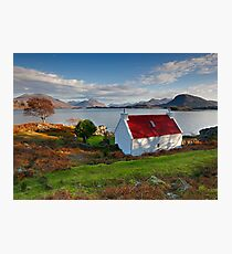 The famous Red Roof cottage at Upper Loch Torridon Scotland  Photographic Print