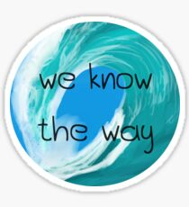 """Wir kennen den Weg"" (Kreis) Sticker"