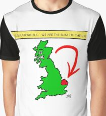 I Love Norfolk, We Are The Bum of The U.K! Graphic T-Shirt