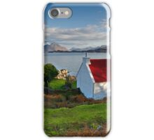 The famous Red Roof cottage at Loch Shieldaig Scotland iPhone Case/Skin