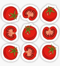 Ripe Red Tomatoes Sticker