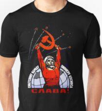 Ruhm dem sowjetischen Volk - den Pionieren des Weltraums Slim Fit T-Shirt