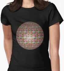 Colorful 3D Ball Womens Fitted T-Shirt