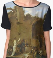 David Teniers The Younger  - The Temptation Of St. Anthony Women's Chiffon Top