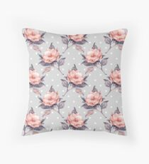 Vintage floral pattern  Throw Pillow