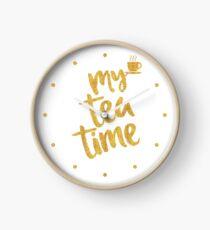 My tea time - 1 pm - Amazing Tea Time Clock Clock