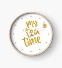 My tea time - 2 pm - Amazing Tea Time Clock Clock