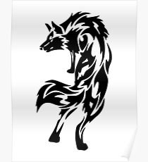 Loup tribal Poster