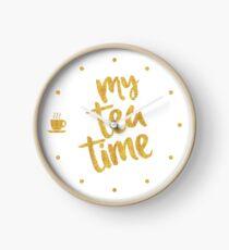 My tea time - 9 pm Clock