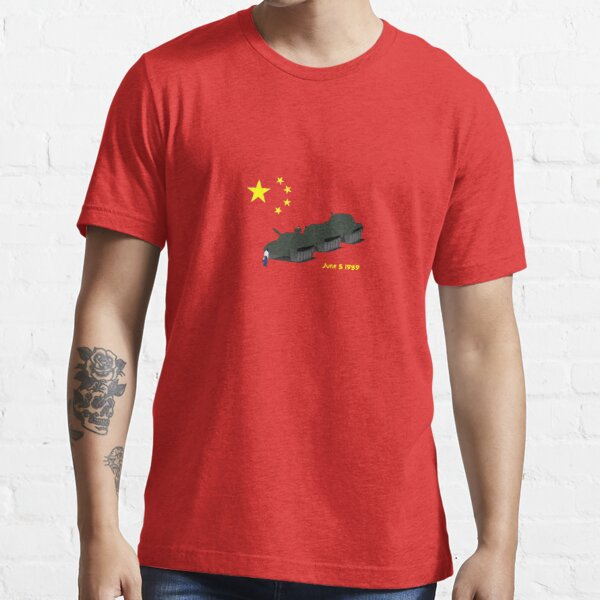 Tank Man (Unknown Rebel) - China, Tiananmen Square protest  Essential T-Shirt