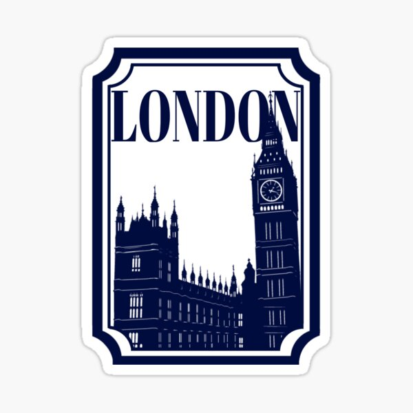 London Stamp Sticker