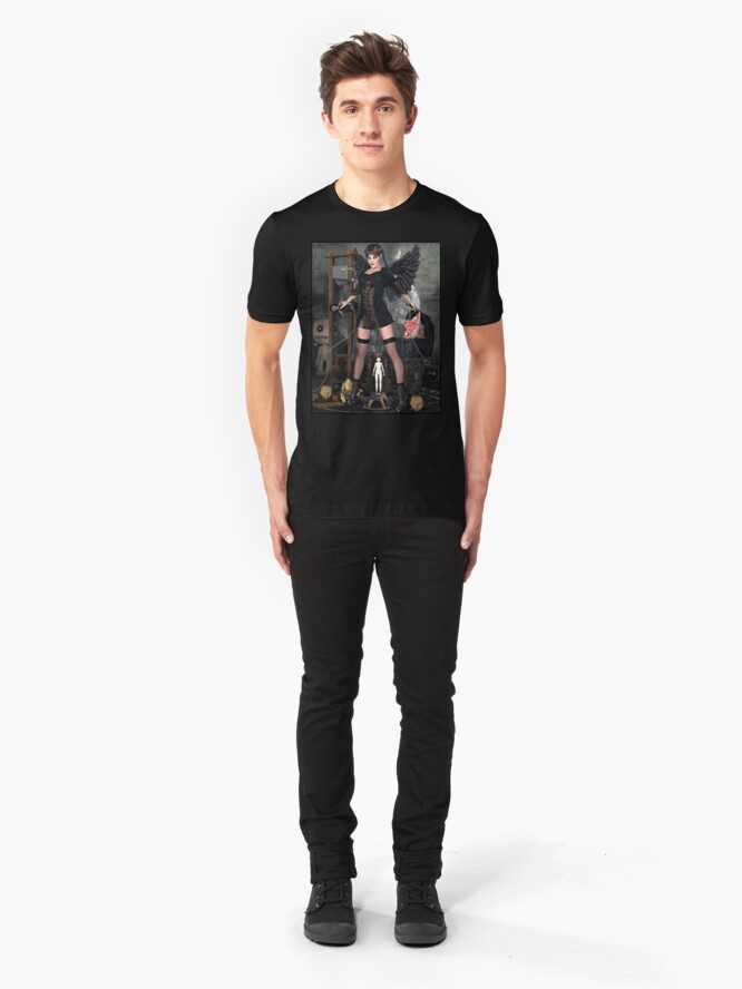 Alternate view of Wednesday Addams Fallen Witch Angel Slim Fit T-Shirt