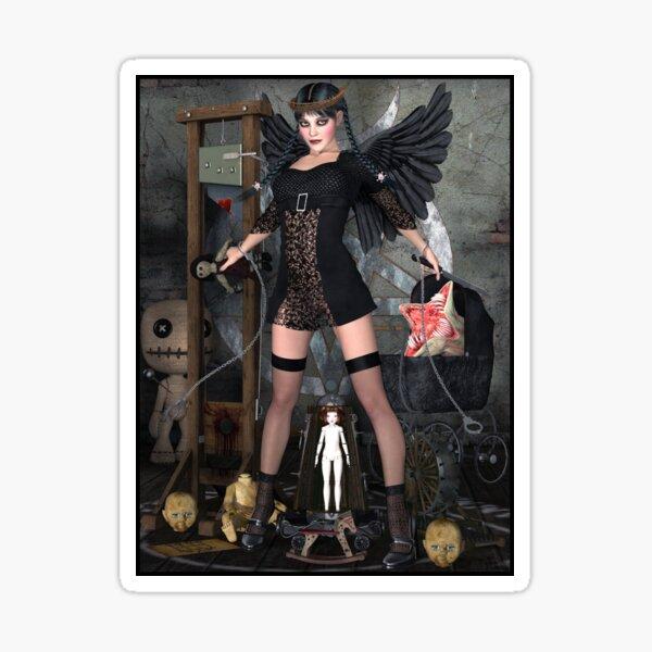 Wednesday Addams Fallen Witch Angel Sticker